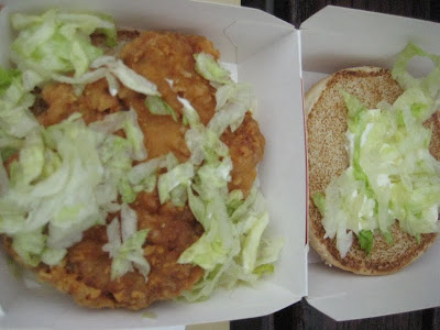 Inside the Spicy Chicken Filet Burger