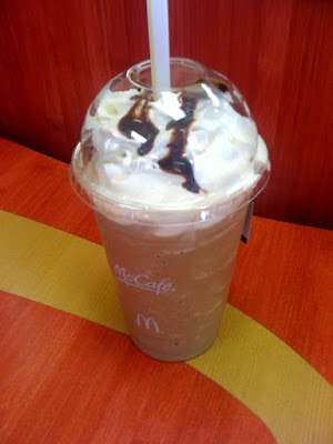 McDonald's Mocha Frappe side view