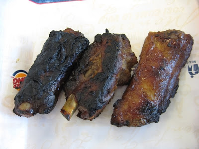 BK Fire-Grilled Ribs, they didn't taste burnt at all despite the look