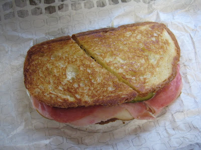 Jack in the Box Deli Trio Grilled Sandwich top view