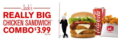 Jack in the Box Really Big Chicken Sandwich Combo