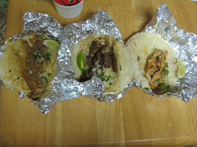 All three varieties of Taco Bell's Cantina Tacos