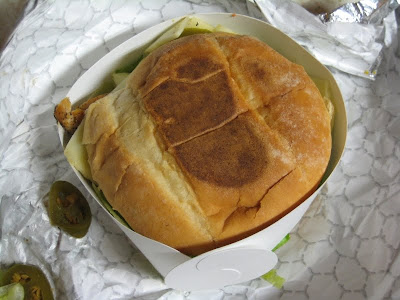 El Pollo Loco Jalapeno Grilled Chicken Sandwich topview