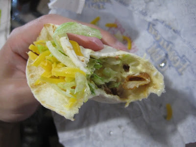 Taco Bell Crispy Potato Soft Taco cross section