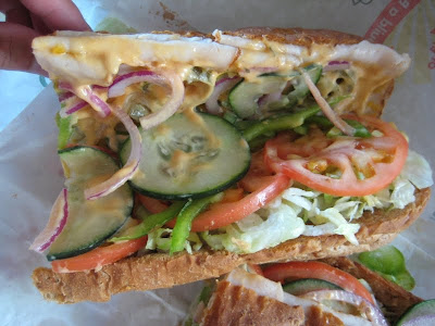 Subway Turkey Jalapeno Melt inside