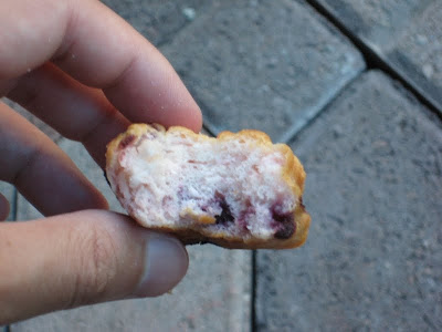 BK Mini Blueberry Biscuit cross section