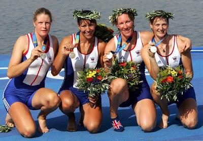 Atenas 2004 - Gran Bretaña, medalla de plata en Cuatro Scull