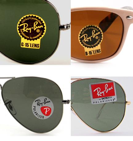 7e9a14de55 Unas auténticas gafas Ray Ban solo traerán etiquetas cuando se traten de  lentes G15 o B15, verdes o marrónes respectivamente o lentes polarizados.