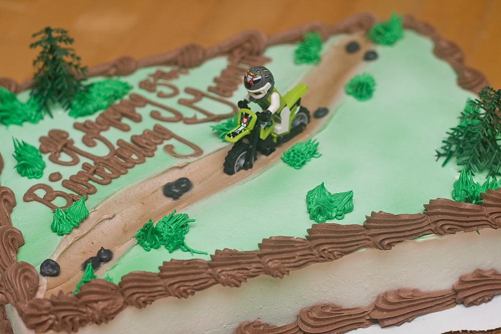 Sledding Birthday Cake