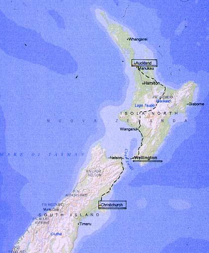 Cartina Nuova Zelanda.Mtb Natura In Bici In Nuova Zelanda