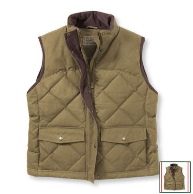 RCS Wish List – LL Bean Waxed Cotton Down Vest