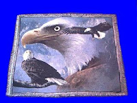 eagle blanket throw tapestry collage