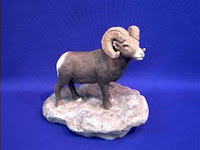 big horn sheep figurine sandicast