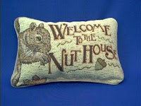 squirrel pillow welcome to the nuthouse