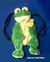 frog backpack youth child