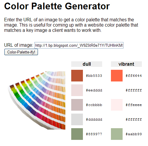 The Daily Interiors Color Palette Generator