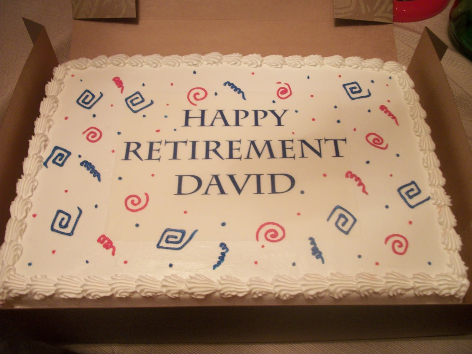 Retirement Cake Ideas For Men