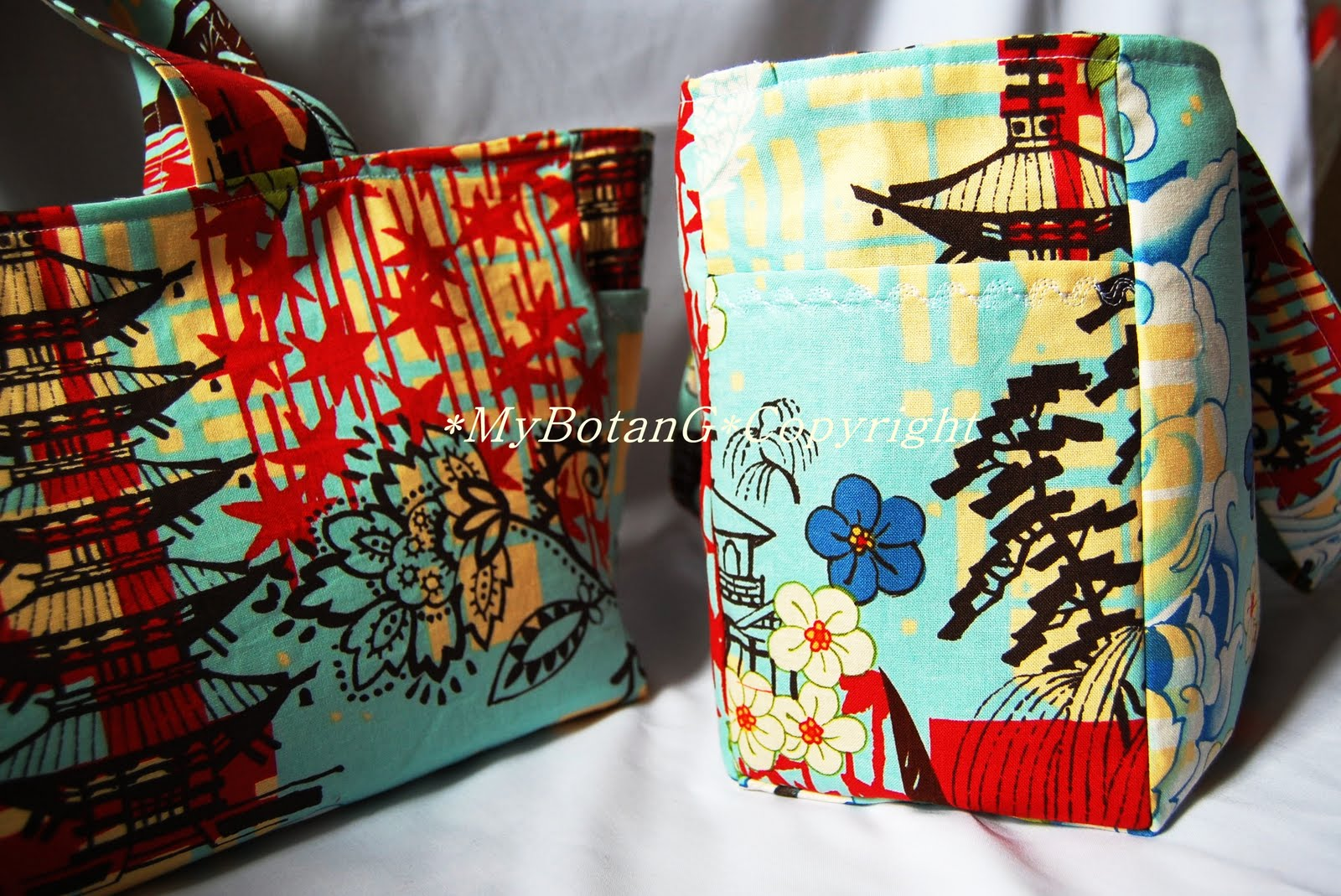 Mybotang fabric scrap series cards - The Features Of Mybotang Odekake Bag
