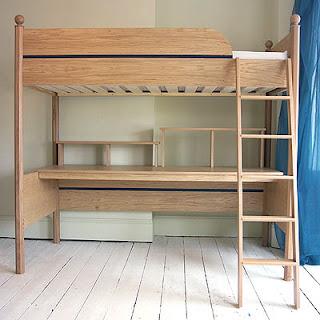 Multifuncional cama litera doble cama alta con zona de - Litera con escritorio debajo ...