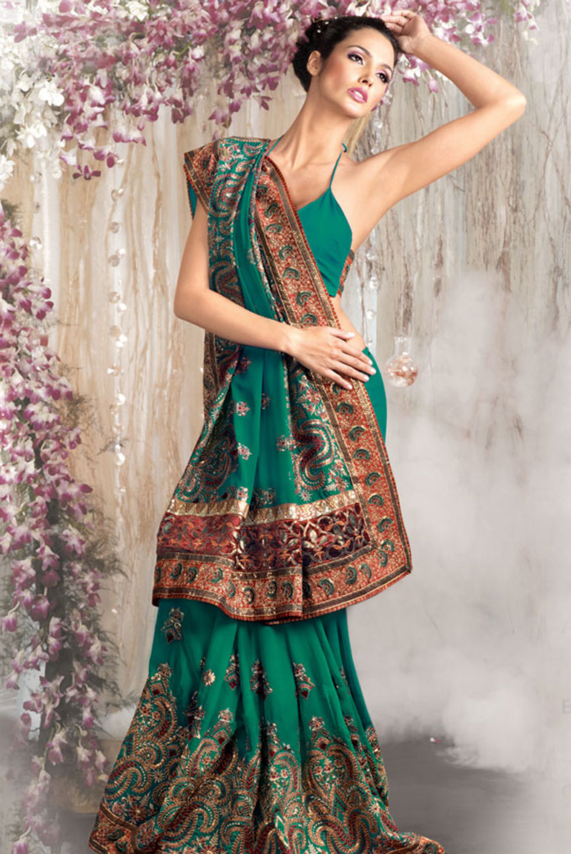 Embroidery designs latest sarees
