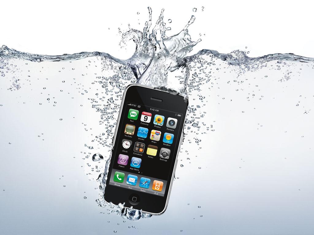 Iphone ins klo gefallen geht aber noch