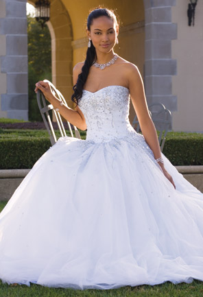 Tulle Ballgown With Beading By Camille La Vie