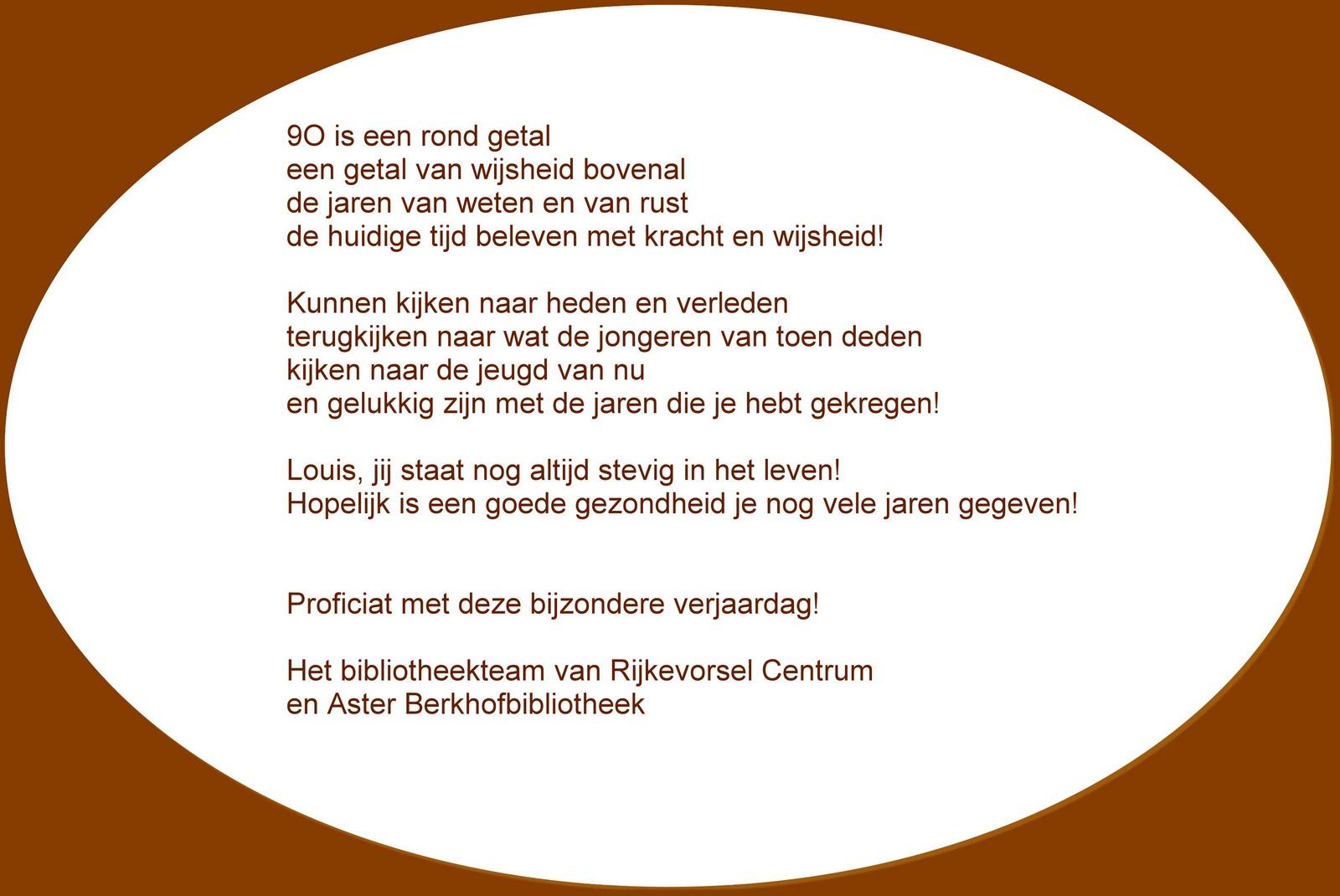 40 Jaar Oud Gedicht