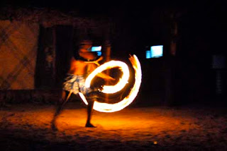 Fire Dancers Robinson Crusoe Island Fiji