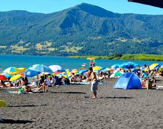 Black Sand Beach Pucon Chile