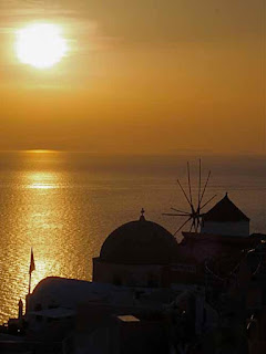 Amazing Sunset Oia Santorini Greece