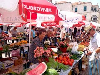 Open Market Dubrovnik Croatia