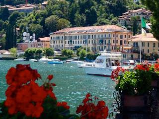 Town Harbor Menaggio Lake Como Italy
