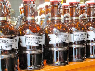 Beer bottles Deschutes Brewery Portland Oregon USA