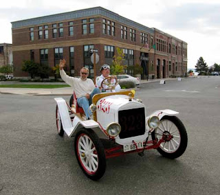 Wayne Dunlap Riding 1922 Ford Model T Port Townsend USA
