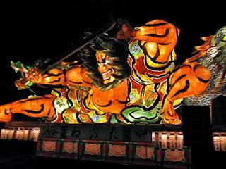 Float Nebuta Matsari Festival Aomori Japan
