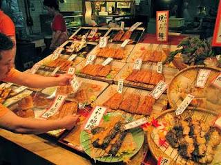 Yakitori Nishiki Market Kyoto Japan Japanese Food