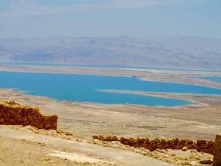 Dead Sea from Masada Israel