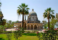 Church Mount of Beatitudes Galilee Golen Heights Israel