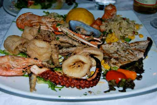 Mixed Seafood Dinner Crete Greece