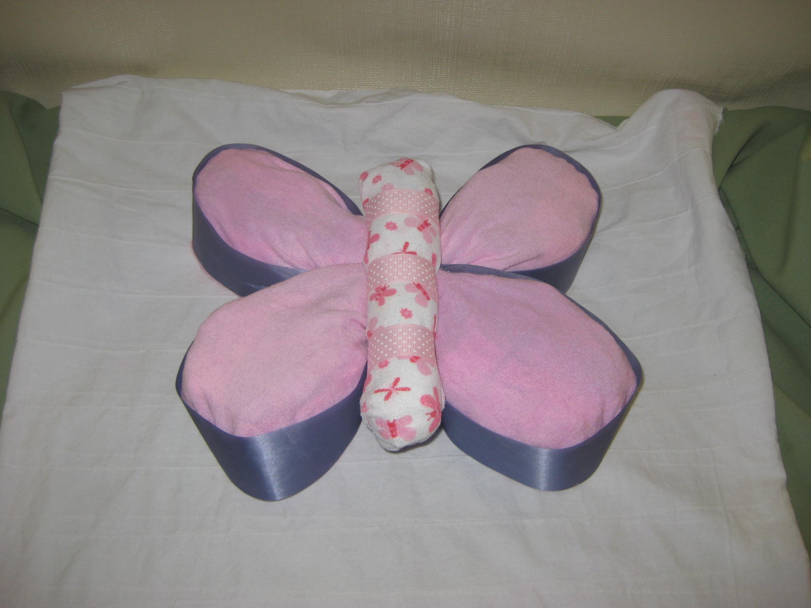 Second Generation Cake Design Butterfly Diaper Cake