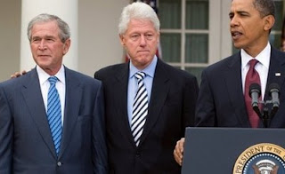 Former Presidents George W. Bush and Bill Clinton join President Obama to support The Haitian Earthquake relief effort