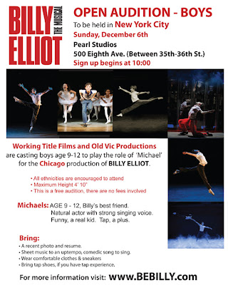 Billy Elliot announces casting for its Chicago production of the musical