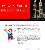 Kelab Aman bid for 13th Pan Asia Hash