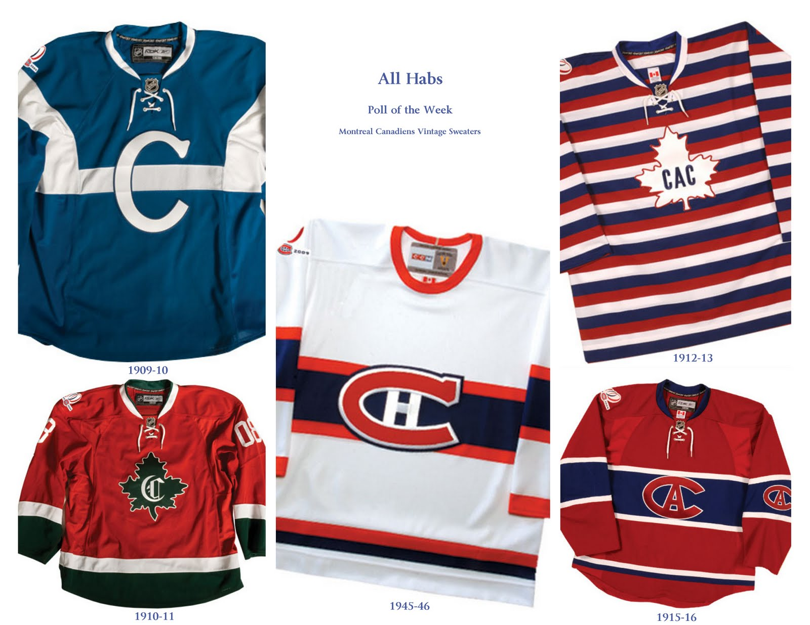 Poll of the Week  Montreal Canadiens Vintage Sweaters  e1e1bece03d