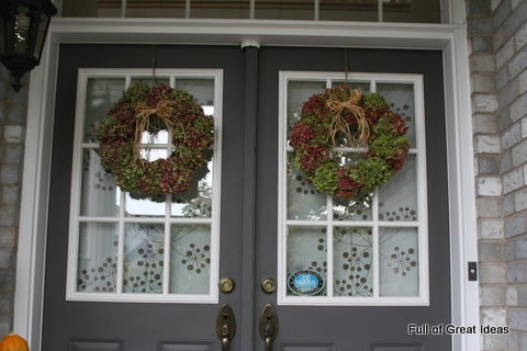 Full of Great Ideas: Window Covering for Front Door
