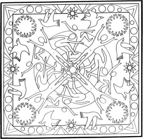 Mandalas Para Pintar Mandala De Libertad