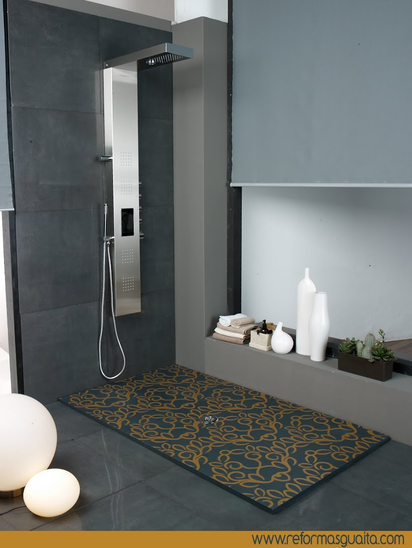 Decoracion de cuartos de ba o con plato de ducha Decoracion duchas