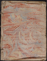 A page of faded marbled paper.