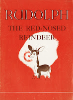 "A cover for ""Rudolph the Red-Nosed Reindeer."""