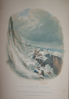 "The frontispiece, captioned ""Avalanche at Lewes."""